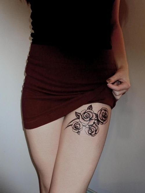 Thigh tattoos for women from pinterest tattoo for Thigh band tattoos for females