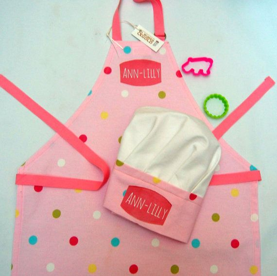 Hey, I found this really awesome Etsy listing at https://www.etsy.com/listing/210968843/apron-chef-hat-kids-chef-hat-with-apron