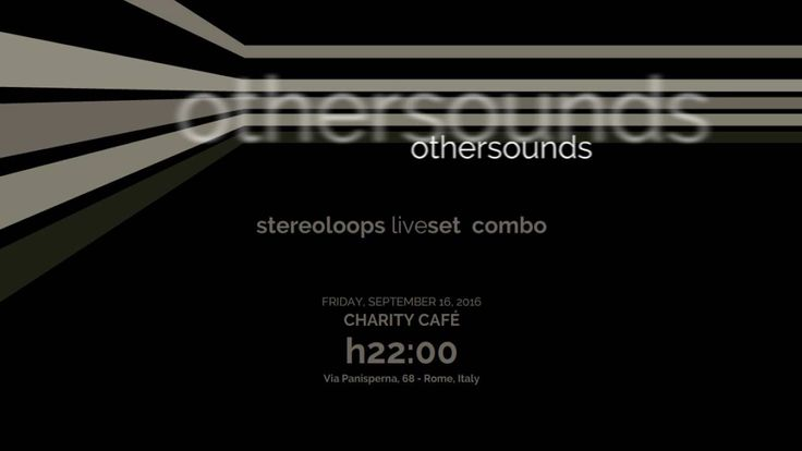 SL STEREOLOOPS LIVE SET COMBO: CHARITY CAFÉ 16.09.2016 Trailer