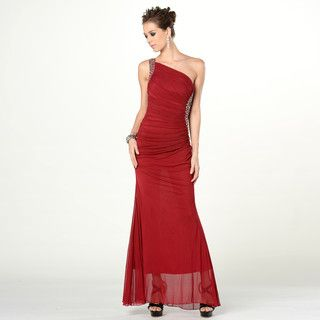 One-Shoulder Rhinestone Evening Gown from #YesStyle <3 YesStyle Dress YesStyle.com.au
