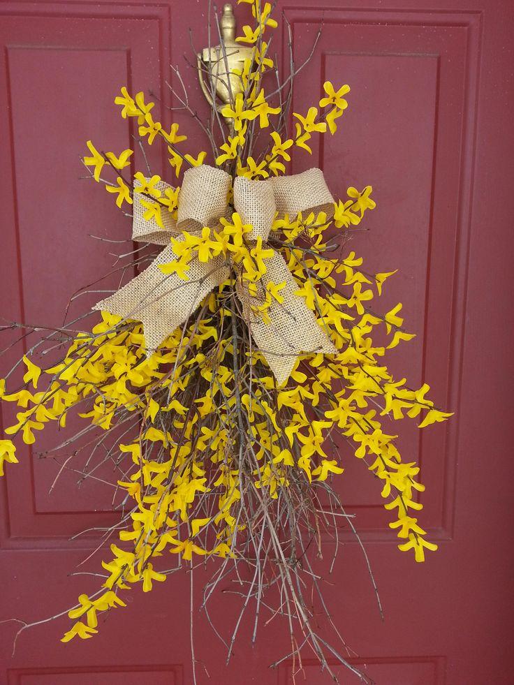 twig door swags | Forsythia Door Swag