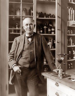 Thomas Alva Edison (1847 – 1931) was an American inventor and businessman. He developed many devices that greatly influenced life around the world, including the phonograph, the motion picture camera, and a long-lasting, practical electric light bulb.
