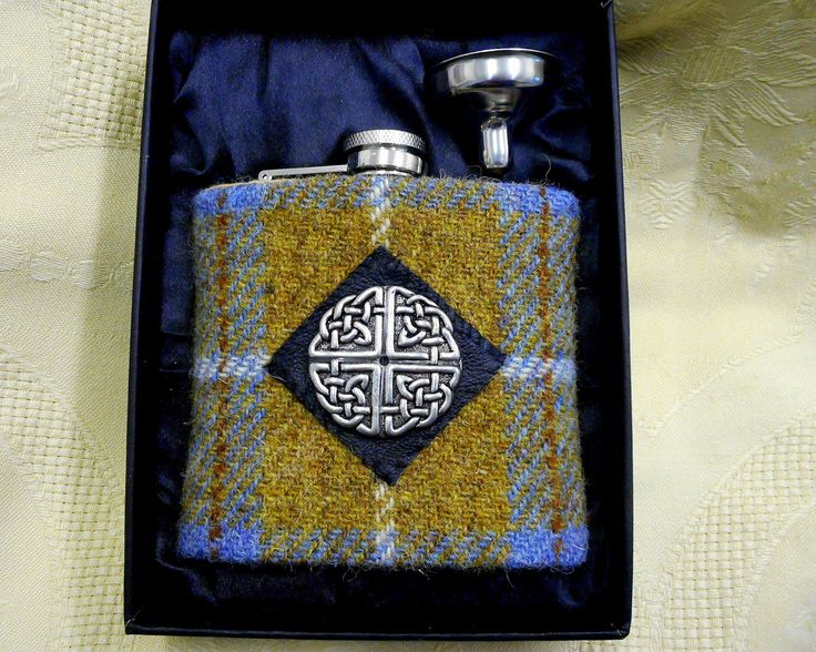Harris Tweed hip flask blue mustard check  mens gift Scottish made in Scotland Celtic accessories wedding best man usher groomsman  birthday by TweedwithaTwist on Etsy https://www.etsy.com/uk/listing/224071519/harris-tweed-hip-flask-blue-mustard
