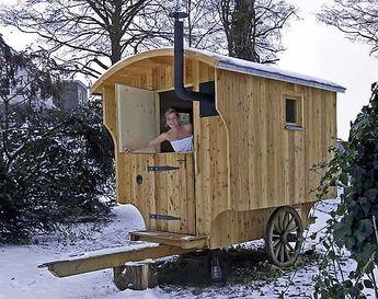 Alternative für die Sauna :-) bowo-schaeferwagen.de - Saunawagen