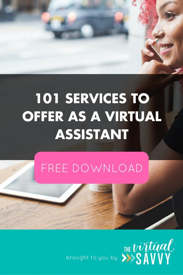 Ready to start your Virtual Assistant business? Here are 101 services you can offer your new clients! via The Virtual Savvy #va #virtualassistant #marketing #socialmedia #blogging #branding