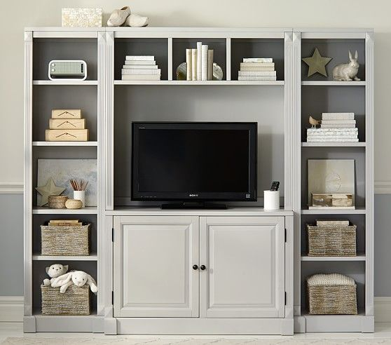 grace narrow media wall system pottery barn kids indoor spaces pinterest barns pottery. Black Bedroom Furniture Sets. Home Design Ideas