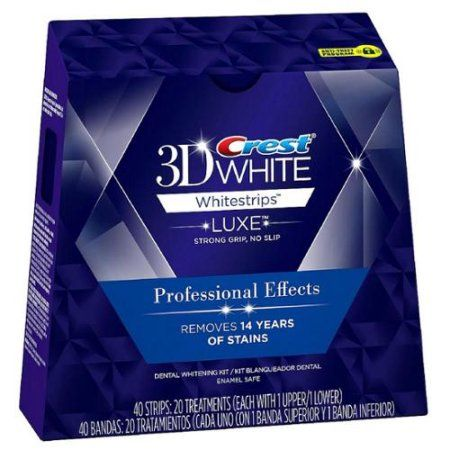 Free Shipping. Buy Crest 3D White Luxe Whitestrips Professional Effects Teeth Whitening Kit 20 ea (Pack of 3) at Walmart.com
