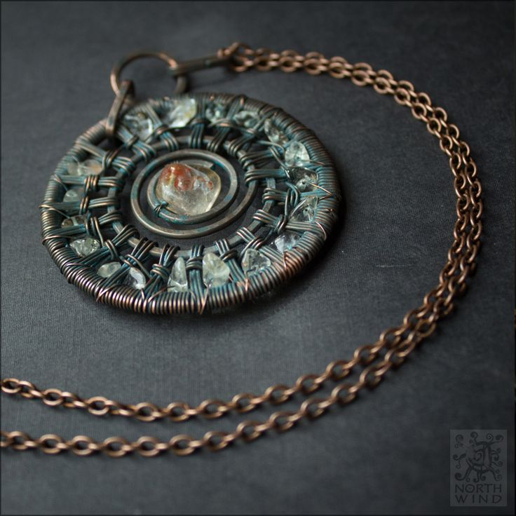 Midsummer Sun. Day and Night meet each other in this midsummer pendant. Golden sunbeams sparkling in the twilight shades. Made of patinated copper and shiny citrines, it is a talisman - and a piece of summer in your hands. https://www.etsy.com/ru/shop/NorthWindShop