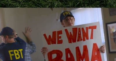 WATCH: We Want Bama signs under seige by FBT Federal Bureau of Trash Talking