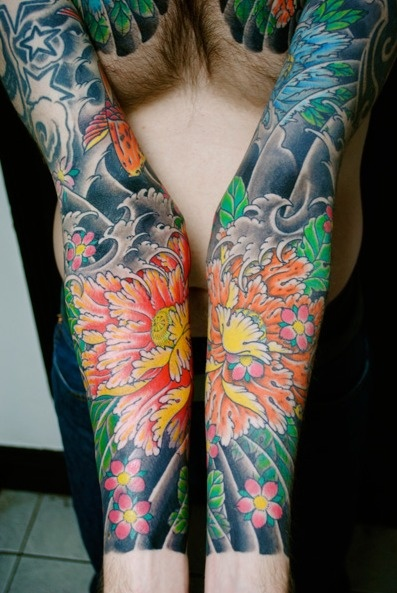 Japanese sleeve tattoos by Stewart Robson