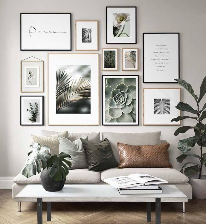 Inspiration für schöne Wohnzimmer Bilderwand mit…