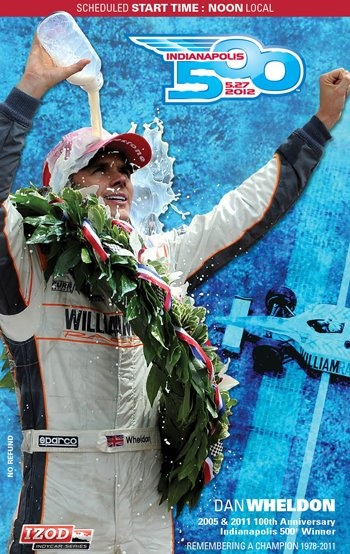 2012 Indy 500 Ticket featuring the late Dan Wheldon