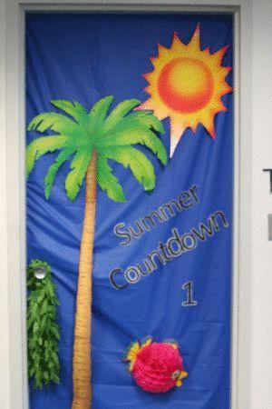 cool door designs for school. Summer Countdown School Door Decoration Cool Designs For