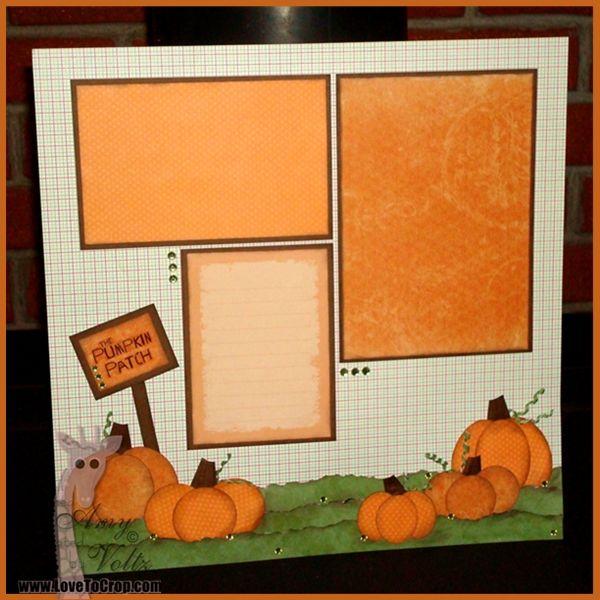 Pumpkin Patch Fall Scrapbook Layout
