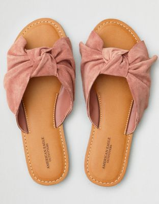 b8b804256fd AEO Oversized Bow Slide Sandal by American Eagle Outfitters