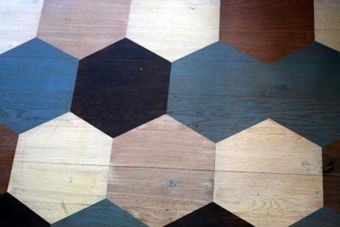Takes guts to paint a wood floor. Stenciled Floors at The Bedford Inn, Remodelista