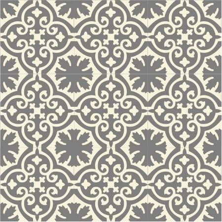 Buckland Dim Grey Recro Encaustic Tile, a creative design for both walls and floors