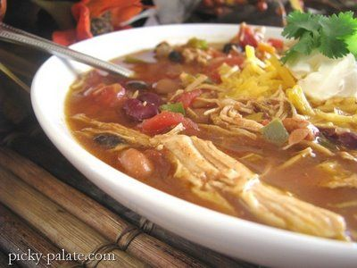 Southwest Shredded Chicken 3 Bean Chili and Cornbread Muffins… | Picky Palate