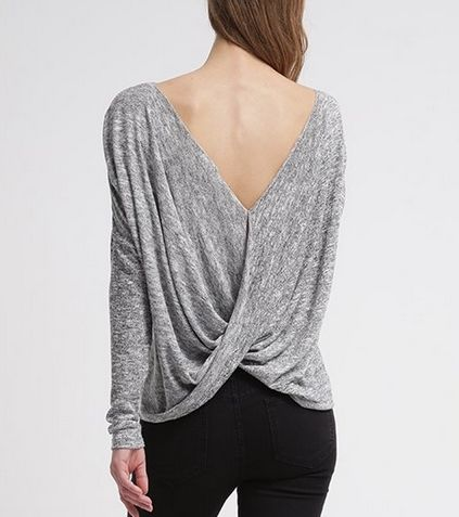 Noisy May NMNEW KARNA Sweter light grey melange
