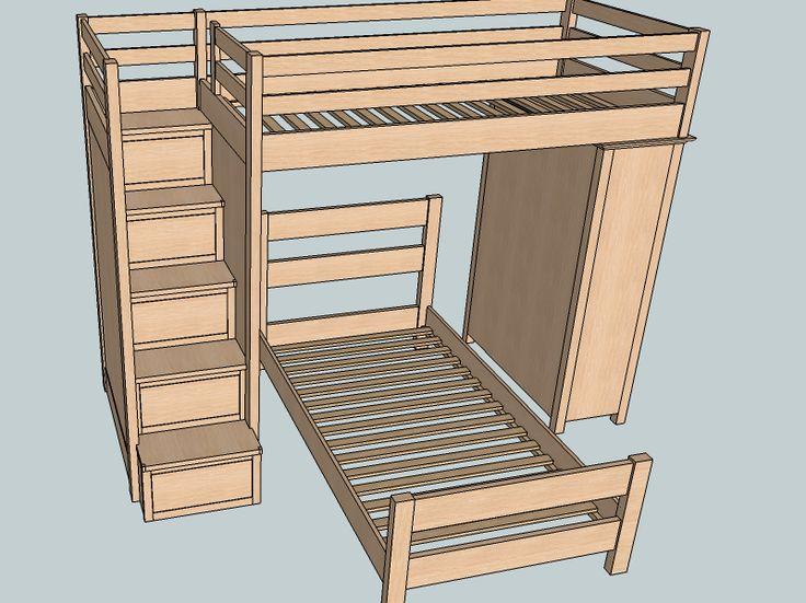 Best 25 Bunk Bed Plans Ideas On Pinterest