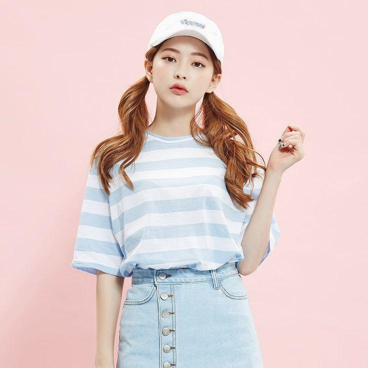 KawaiiBox.com ❤ The Cutest Subscription Box — liliest: striped crewneck t-shirt