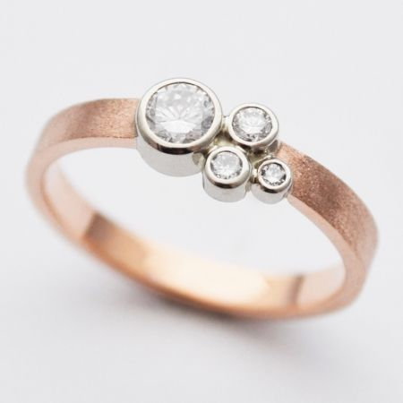 susan west's signature design, featuring conflict-free diamonds in 14k rose gold. perfectly priced at just $2,100. www.bluegoldsmiths.com Themarriedapp.com hearted <3