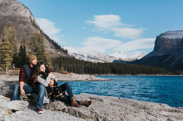 Lake Minnewanka Engagement Photos