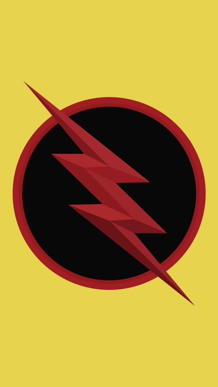 Marvelous Wallpaper Reverse Flash Logo Dc Comics Minimal 7201280 Wallpaper Reverse Flash Flash Wallpaper Flash Logo