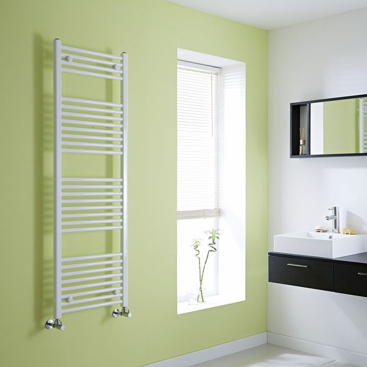 Milano Calder   Flat White Heated Towel Rail 1500mm X 500mm