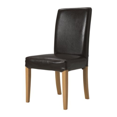HENRIKSDAL Chair IKEA Durable Bycast leather with a protective finish which you can easily wiped clean with a damp cloth.