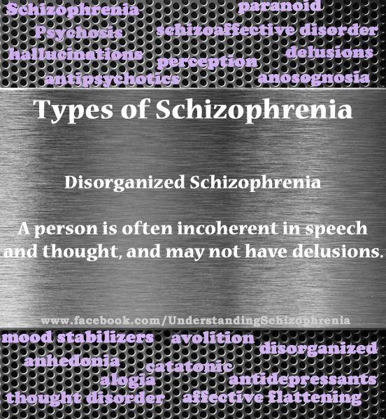 disorganized schizophrenia essays To read about a schizophrenic patient is one thing, but to view how they cope  with  disorganized schizophrenia is another type of this serious.