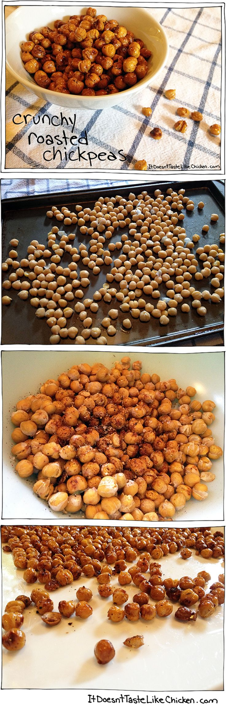 Crunchy Roasted Chickpeas! An easy and awesome healthy snack! Have this instead of  chips!