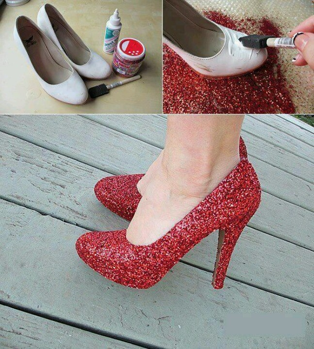 do it your self shoes any colour mabey sparcle to