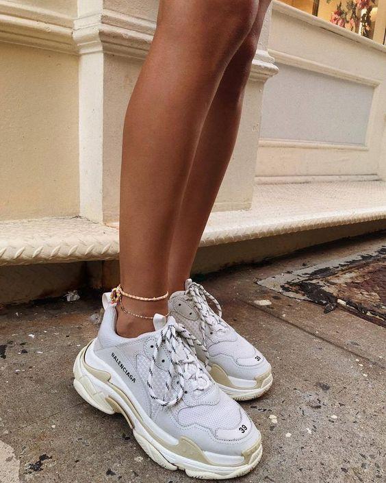 Buy Balenciaga Triple S Trainers White Shoes Online Sneakers Fashion Shoes Sport Men Woman Style B Balenciaga Shoes Outfit Shoes Balenciaga Sneakers