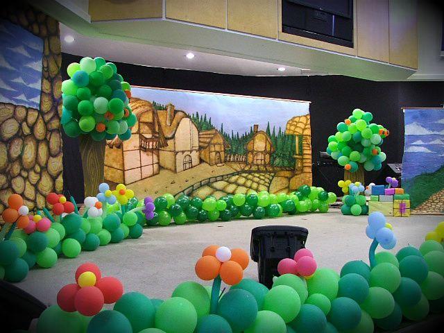 decoraç u00e3o para culto infantil Pesquisa Google decoraç u00e3o com Balões Pinterest Pesquisa -> Decoração De Igreja Evangelica Para Congresso Infantil