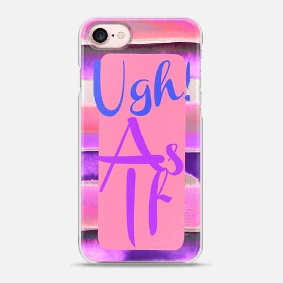 UGH! AS IF, 3 By Artist Julia Di Sano, Owner/ Artist of Ebi Emporium #Casetify #CasetifyArtist @Casetify #iphonecase #iphone7 #iphone6 #tech #phonecase #colorful #90s #typography #musthave #pink #stripes #trendy #2017style #EbiEmporium Colorful California Clueless Nostalgic 90s Movie Girly Typography Blush Pink Coral Peach Violet Purple Stripes Funny Quote Art - Snap Case