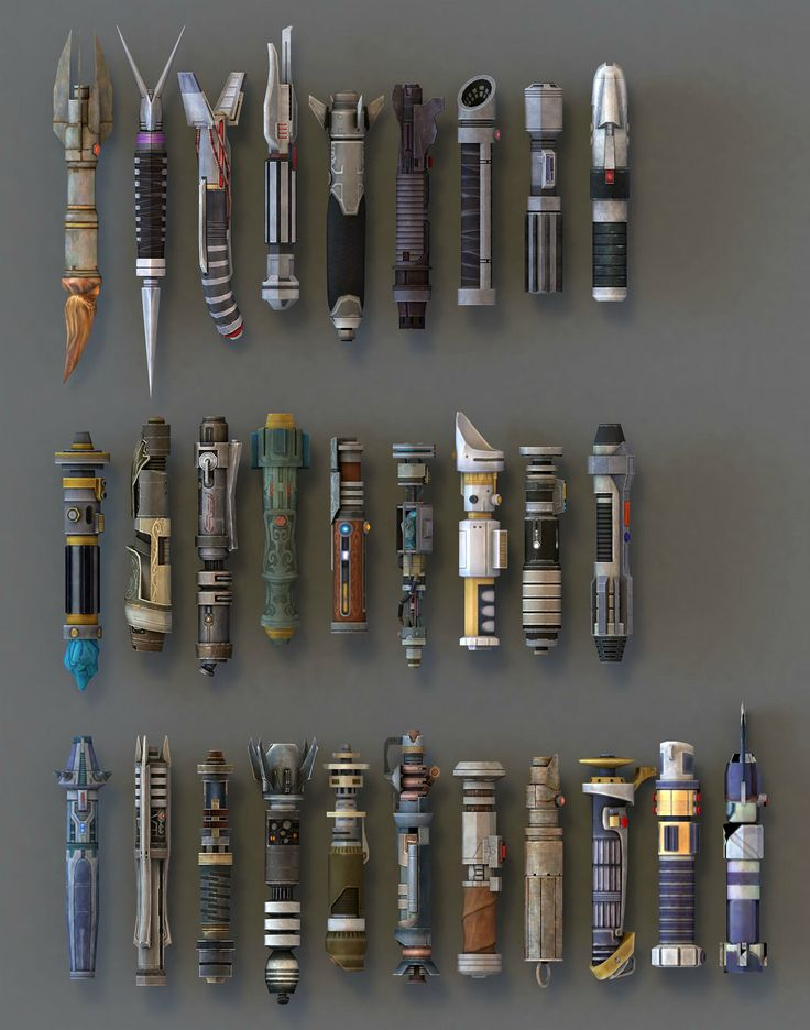 Light saber models from SWTOR very cool - Could probably use this as a guide to making your own painted on version