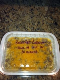 Too Goodin to be True: Freezer Meal- Breakfast Casserole