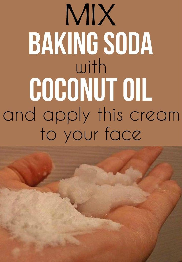 Mix baking soda with coconut oil and apply this cream to your face…