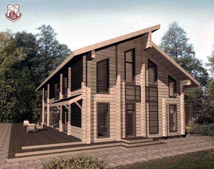 Проект дома из клееного бруса Медное (КБ - 373)