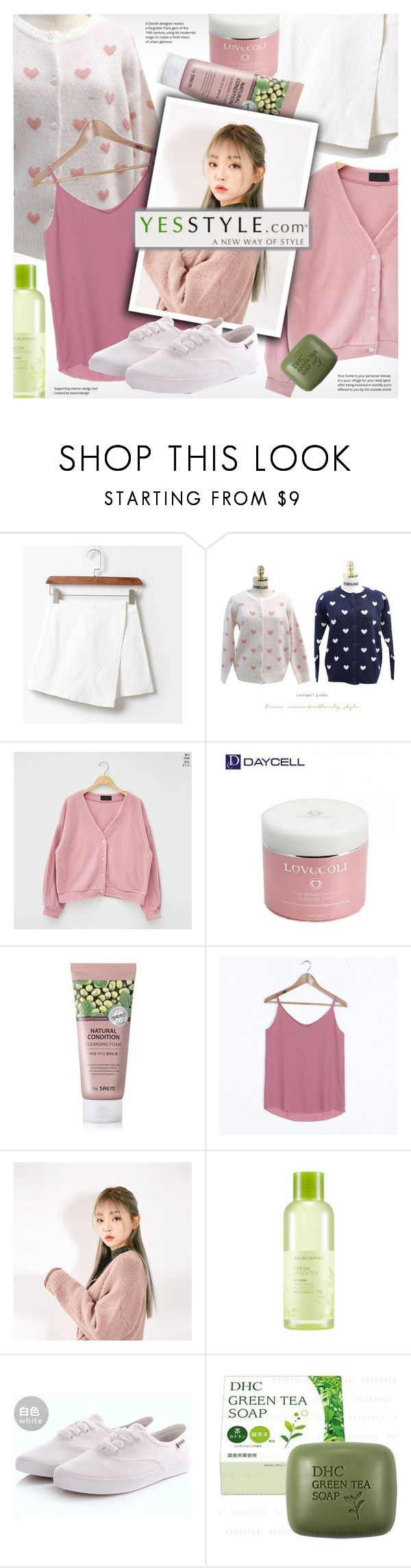 """""""YesStyle ootd with cardigans"""" by vn1ta ❤ liked on Polyvore featuring MyFiona, chuu, White Label, nature republic, Renben, Winter, ootd, cardigans and yesstyle"""