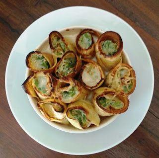 il gusto e il giusto    : Crepes gratinate con fagiolini, pesto e ricotta