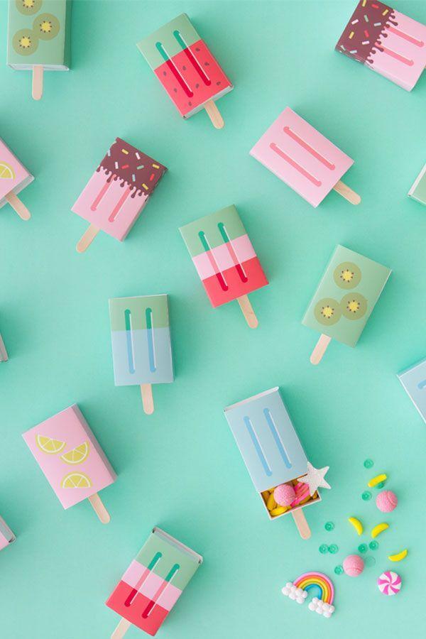 DIY Popsicle Favour Boxes