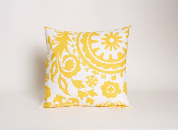 Sofa Tables Yellow Throw Pillow Cover Pick Your Print by DimensionsHomeDecor