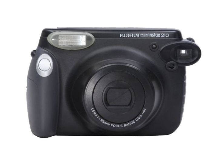 Instax Camera Wide 210S Black. With flash, picture size 62 x 99 mm. Instax wide camera takes great bigger pictures. Perfect for parties with many guests gathering together and landscapes photos since it has a bigger size.  http://zocko.it/LEZXv