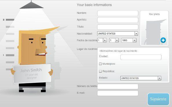 Online CV Generator te permite crear tu CV en linea