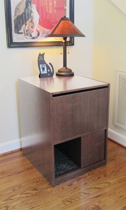 Superior Cat Litter Box Furniture That Stops Litter Tracking. Our Litter Box Cabinet  Is A Hidden Litter Box That Is Easy To Clean Standing Up. Design