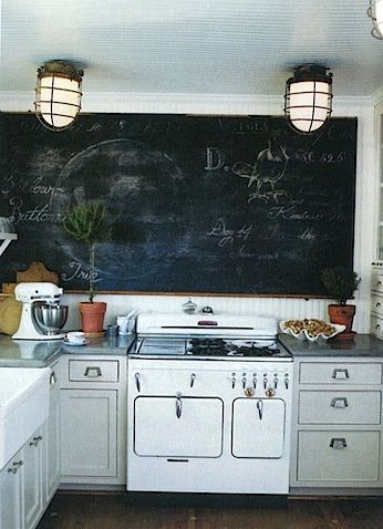 chalkboard paint somewhere in the kitchen
