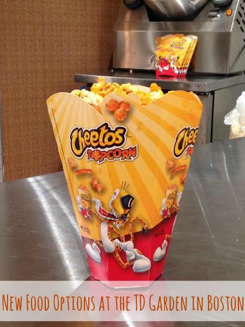 There are lots of great new concession menu items at the TD Garden in Boston this season. The Frito-Lay infused snacks are a highlight!