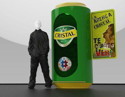 "Check out new work on my @Behance portfolio: ""MODULO CERVEZA CRISTAL COPA AMERICA"" http://on.be.net/1MeNaIu"